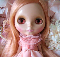 (twinkle_moon_bunny) Tags: pink ballerina pretty lace peach pearls rosebud melody blythe mademoiselle frilly