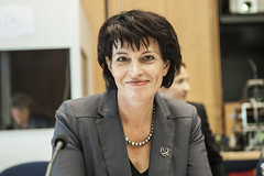 Doris Leuthard enjoying the meeting