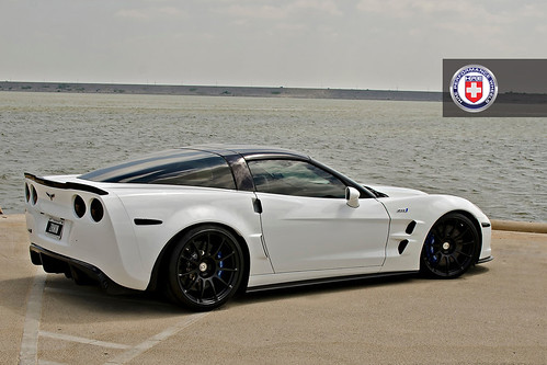 Chevrolet Corvette C6 Zr1 White Hre P43s Satin Black A Photo On