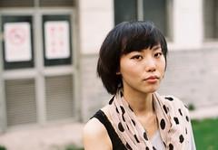 Christy in Huashan Park 09 (bluetrayne) Tags: china portrait woman film female shanghai feminine chinese  analogphotography