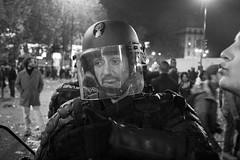 (Mathias Destal) Tags: portrait blackandwhite paris rose 35mm canon police victory streetphoto vote elections bastille sarkozy socialism 2012 crs hollande socialiste gendarmerie portray 6mai