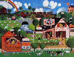 """Home of Happy Moo Cows"" (Puzzler4879) Tags: art painting cows americana 50 puzzles pointshoot canonpowershot jigsaws canondigital canonaseries canonphotography wonderfulphotos jigsawpuzzles a590 royalgroup canonpointshoot flickraward a590is canona590is canonpowershota590is powershota590is canona590 artisticpuzzles handselectedphotographs mygearandme 50plusphotographersaged50andbetter level1photographyforrecreation theelitephotographerlevel1 redgroupno1 level1autofocus rogernaninni homeofhappymoocows"