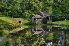 Mabry Mill HDR (loco's photos) Tags: old trees reflection mill nature water forest vintage landscape outdoors virginia pond italian scenery pentax rustic most vogue nik kr photographed hdr blueridgeparkway waterwheel grist mabry mabrymill meadowsofdan dal1855 photovogue hdrefexpro