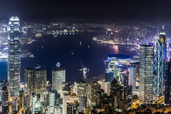 Hong Kong Night View from the Peak (.Gianluca) Tags: light panorama holiday colors skyline river hongkong commerce delta pear resolution thepeak thekong hongkongskyline gettychinaq2 gettychina12q2