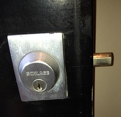 """Schlage Deadbolt Installed Right by Spadina Security Locksmith Toronto • <a style=""""font-size:0.8em;"""" href=""""http://www.flickr.com/photos/61091887@N02/7244470622/"""" target=""""_blank"""">View on Flickr</a>"""