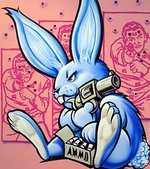 Ammo Bunny (EVL World) Tags: streetart rabbit bunny bunnies graffiti teddy urbanart teddybear rabbits graff graffitiartist erni teddybears blackbook ernivales urbangraffiti virtualgraffiti graffitishop graffitistore graffiticreator graffiticreators ernivalesdesigns ernivalesongraffiti graffitiarticles graffitistores graffititip
