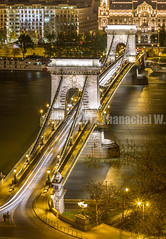 Szechenyi Chain Bridge Night Shot (Beum Gallery) Tags: bridge europe hungary budapest pont magyar danube magyarorszg lnchd chainbridge szchenyi hongrie szchenyilnchd  istvnszchenyi pontdeschanes   pontchanes   beumphotography