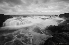 Dark Skies and Darker Seas (right2roam) Tags: california longexposure sky blackandwhite seascape beach nature monochrome point photography coast monterey state south fineart central dramatic reserve stormy shore carmel rough lobos pointlobos churning right2roam