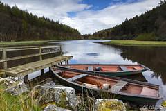 Gone Fishin' (Chris Lishman) Tags: lake fish landscape boats swan fishing jetty scenic calming peaceful calm northumberland boating serene splash fishingboats calmness lakescene lishman sernity chrislishman welcomeuk
