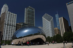 "Cloud Gate ""The Bean"" in AT&T Plaza at Millennium Park, Chicago, Illinois (Mastery of Maps) Tags: park city urban sculpture chicago architecture publicspace buildings illinois downtown cityscape place skyscrapers central chitown bean il reflective grantpark tall publicart millenniumpark theloop chicagoloop cloudgate highrises centralbusinessdistrict windycity publicplace giantbean downtownloop"