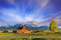 John Moulton Barn - Grand Teton N.P - Wyoming - USA (~ Floydian ~) Tags: henkmeijer henk meijer floydian usa unitedstates wyoming antelopeflats mormonrowbarn johnmoulton tamoulton's andychambers moulton barn picturesque wood wooden settlers building structure structures homestead farmsteads farmstead complexes mormons settlement historic morning mountain mountains tetons grandteton nationalpark teton tree mood snow ice cloud clouds valley longexposure leebigstopper leefilters lee atmosphere wide view movingclouds landscape landscapes canon canoneos1dsmarkiii