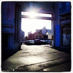 The Sun! (steliosgiorgio) Tags: street sky sun square lofi cyprus squareformat larnaca   iphoneography instagramapp uploaded:by=instagram
