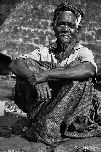 Old man from Wae Rebo village