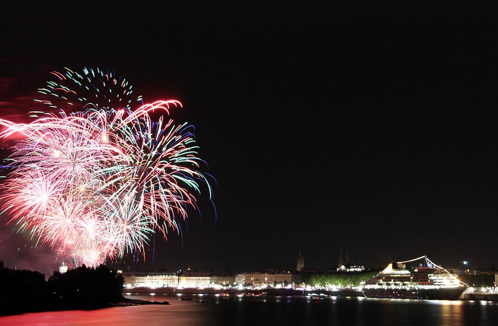 Prinsendam by night - Bordeaux - 30 juin 2012