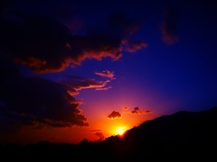 (Nick Kout) Tags: sunset red sky mountain colors beauty yellow clouds landscape sony greece crete heraklion blinkagain