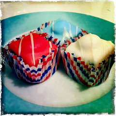 Mr Kipling ftw (muftysludge) Tags: cakes jubilee independenceday redwhiteblue 4thjuly iphone mrkipling hipstamatic