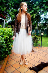 Ballerina by The Joy of Fashion (9) (the joy of fashion) Tags: fashion feminine style romantic outfits leatherjacket motorcyclejacket tulleskirt fashionblog tutuskirt joyoffashion