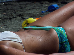 Down Bottom 03 (scotty_h2012) Tags: beach bottom bikini voyeur sunbathing hipbone bikinibridge