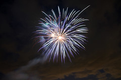 Double Bang with Clouds (ejhrap) Tags: sky cloud night day display lexington massachusetts 4th july independence fourth firworks
