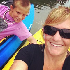 Ty and Mom (Nina Cazille) Tags: lake square kayak pennsylvania pa kayaking rise marshcreek iphoneography