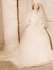 Juanita Escovedo in her wedding dress