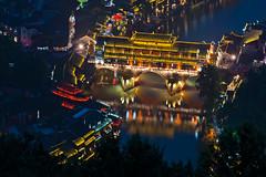 Phoenix Hong Bridge (Tonnaja Anan Charoenkal) Tags: china city bridge phoenix town ancient hong fenghuang hunan