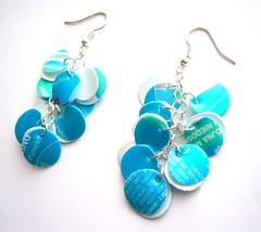 Blue lagoon earrings (d'ekoprojects) Tags: jewelry earrings ecofriendly handmadejewelry handmadeearrings upcycled blueearrings recycledjewelry ecofriendlyjewelry upcycledjewelry plasticbottlejewelry