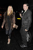 Caprice Bourret enjoys an evening out at Novikov restaurant in Mayfair. London, England