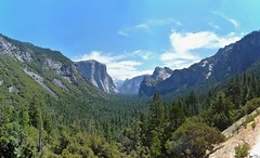 TunnelView1 (djmendez) Tags: trees nature waterfall nationalpark yosemite halfdome elcapitan tunnelview