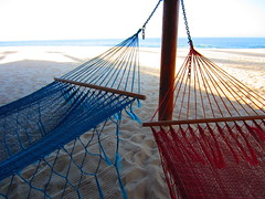 beach relaxation (kenjet) Tags: ocean blue red beach water relax mexico sand cabo hammock bajacalifornia baja bajacaliforniasur relaxation