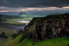 On top of Dyrhlaey (Inglfur B) Tags: pictures light mountain green night island iceland rocks picture pic glacier gras sland katla brfell mrdalsjkull dyrhlaey inglfur ingolfur inglfurb ingolfurb