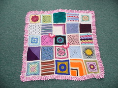 Thanks to everyone that contributed squares for the last Jan Eaton blanket. (MRS TWINS/SIBOL 'Sunshine International Blankets) Tags: squares elderly blankets sibol