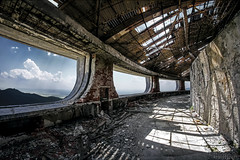 Buzludzha's Surrounding Hall (Video) (KamrenB Photography) Tags: old trip travel sky building amazing europe euro awesome communist communism bulgaria socialist socialism brutalist shipka buzludzha buzludja  kamgtr