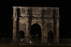 Arch of Constantine (Rory Francis) Tags: italy rome roma night ancient roman bynight moonlight colloseum romanempire rhufain collosseo yreidal aneadailt
