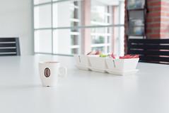 Clean-desk policy (glukorizon) Tags: boom chair china coffee cup dish koffie kop kopje melk milk odc odc2 onthetable ourdailychallenge plant porcelein raam ruit schaal servies stoel sugar suiker table tableware tafel tree vabi white window wit