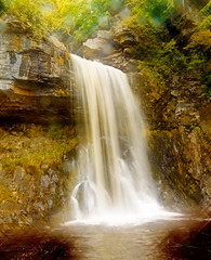 Starburst Waterfall (PicarusSlim) Tags: uk photography photo waterfall interestingness unitedkingdom shots yorkshire country working leeds lakes inspired sparkle clear scarborough effect gareth dales ingleton ghz hoyle