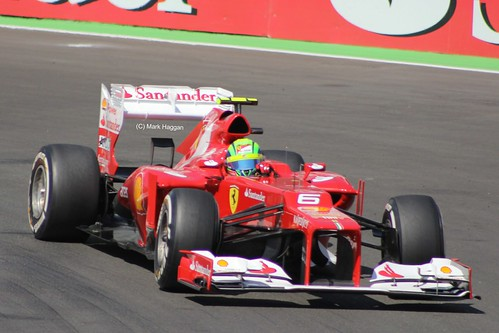 Felipe Massa in his Ferrari at the 2012 European Grand Prix at Valencia
