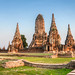 Sunset at Wat Chaiwatthanaram, Ayutthaya, Thailand
