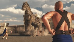 The Setup (smichaelson) Tags: horse sun history poser 3d war render creative dirt hide sweat setup dust trojan vue poser9 vue10