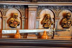 Romania-1558 - Executioner's Sword. (archer10 (Dennis) 85M Views) Tags: building castle nikon tour room free romania sword dennis jarvis armour cosmos d300 executioner iamcanadian pelescastle 18200vr freepicture 70300mmvr kingcaroli dennisjarvis archer10 dennisgjarvis