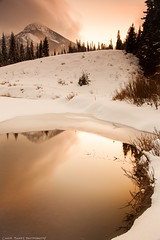 Reynold's Flat (Conor Barry) Tags: winter light sunset snow cold reflection ice water landscape photography golden frozen utah long exposure ray filter freeze hour barry nd grad conor singh