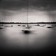 The Boats at Lake Harriet (A Brand New Minneapolis) Tags: longexposure blackandwhite film sailboat analog mediumformat boats minneapolis ilford michaelkenna ilfordfp4 lakeharriet abrandnewminneapolis