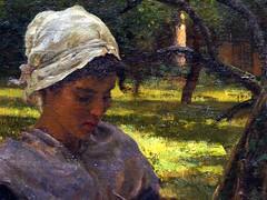 A Peasant Girl Knitting  TheMET(11) (rverc) Tags: nyc art met metropolitanmuseum europeanpainting
