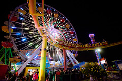 Life is a... (Edwin_Abedi) Tags: park color night canon amusement pier santamonica ferriswheel rollercoaster