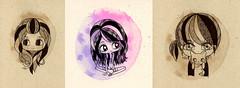 Retratos Ganadores pendientes DF (Anita Mejia) Tags: portrait black color cute girl sepia illustration pen ink drawing retrato traditionalart chocolatita anitamejia