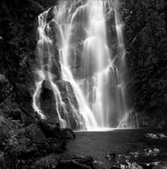 B&W Waterfall (Tim Breeze) Tags: bw skye 6x6 mamiya film mediumformat scotland squareformat ilford fp4 c330 timbreeze