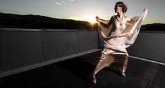 Almond (shontz photography) Tags: shontz shontzphotography rubynicolson aniakingismith rashataylor dress fashion gold almond model woman pose strut dance sunset dusk roof rooftop thefashioncreative