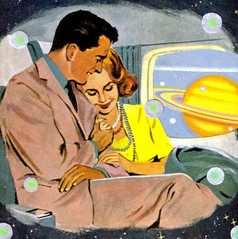 Space Travelers (dadadreams (Michelle Lanter)) Tags: collage collageart outerspace spaceage spacetravel spacetravelers