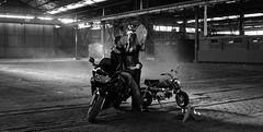 Motorcycles romance (Samir Rorless) Tags: sony a6000 pentax 28mm smc takumar black white motor motorcycle romance love honda