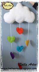 MBILE NUVEM DE AMOR (KEILARTES) Tags: sunshine nuvem de amor decorao almofada sol mbile boneca feltro keilaartes lembrancinhaaniversrio personalizados